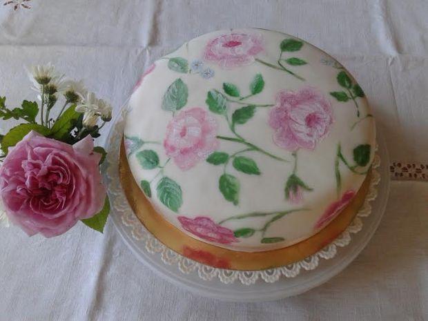 shabby chic cake 1